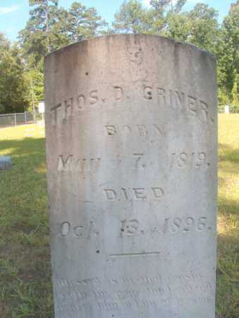 CRINER, THOMAS D - Ouachita County, Arkansas | THOMAS D CRINER - Arkansas Gravestone Photos