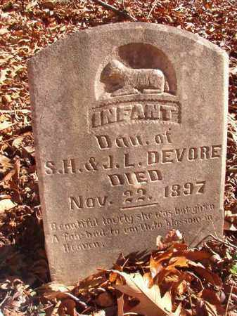 DEVORE, INFANT DAUGHTER - Ouachita County, Arkansas | INFANT DAUGHTER DEVORE - Arkansas Gravestone Photos