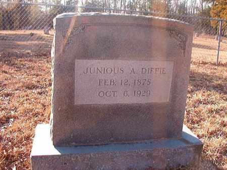 DIFFIE, JUNIOUS A - Ouachita County, Arkansas   JUNIOUS A DIFFIE - Arkansas Gravestone Photos