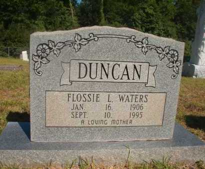 WATERS DUNCAN, FLOSSIE L - Ouachita County, Arkansas | FLOSSIE L WATERS DUNCAN - Arkansas Gravestone Photos