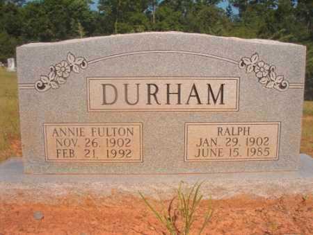 FULTON DURHAM, ANNIE - Ouachita County, Arkansas | ANNIE FULTON DURHAM - Arkansas Gravestone Photos
