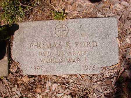 FORD (VETERAN WWI), THOMAS R - Ouachita County, Arkansas | THOMAS R FORD (VETERAN WWI) - Arkansas Gravestone Photos