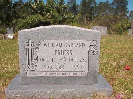 FRICKS, WILLIAM GARLAND - Ouachita County, Arkansas | WILLIAM GARLAND FRICKS - Arkansas Gravestone Photos