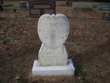GILLESPIE, ELRA ELIZABETH - Ouachita County, Arkansas   ELRA ELIZABETH GILLESPIE - Arkansas Gravestone Photos