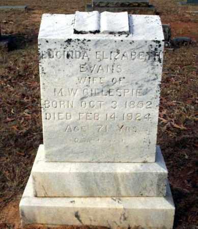 EVANS GILLESPIE, LUCINDA ELIZABETH - Ouachita County, Arkansas   LUCINDA ELIZABETH EVANS GILLESPIE - Arkansas Gravestone Photos