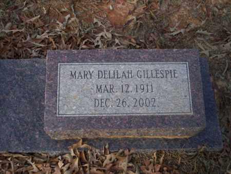 GILLESPIE, MARY DELILAH - Ouachita County, Arkansas | MARY DELILAH GILLESPIE - Arkansas Gravestone Photos