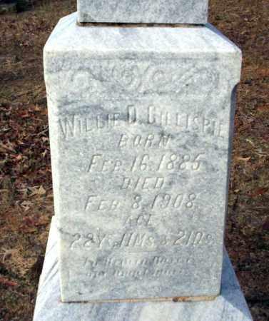 GILLESPIE, WILLIE D - Ouachita County, Arkansas   WILLIE D GILLESPIE - Arkansas Gravestone Photos