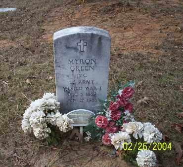 GREEN  (VETERAN WWI), MYRON - Ouachita County, Arkansas | MYRON GREEN  (VETERAN WWI) - Arkansas Gravestone Photos