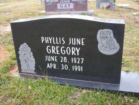 GREGORY, PHYLLIS JUNE - Ouachita County, Arkansas | PHYLLIS JUNE GREGORY - Arkansas Gravestone Photos