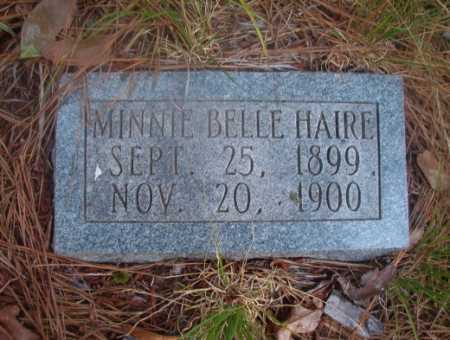 HAIRE, MINNIE BELLE - Ouachita County, Arkansas   MINNIE BELLE HAIRE - Arkansas Gravestone Photos