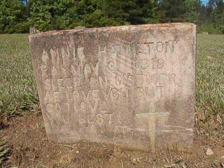 HAMILTON, ANNIE - Ouachita County, Arkansas | ANNIE HAMILTON - Arkansas Gravestone Photos