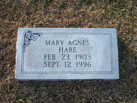 HARE, MARY AGNES - Ouachita County, Arkansas | MARY AGNES HARE - Arkansas Gravestone Photos