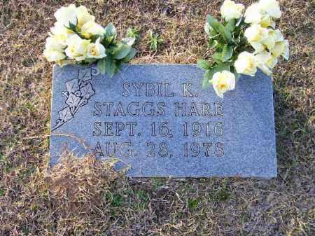 STAGGS HARE, SYBIL K - Ouachita County, Arkansas | SYBIL K STAGGS HARE - Arkansas Gravestone Photos