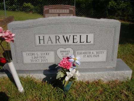 "HARWELL, CICERO G ""LUCKY"" - Ouachita County, Arkansas   CICERO G ""LUCKY"" HARWELL - Arkansas Gravestone Photos"
