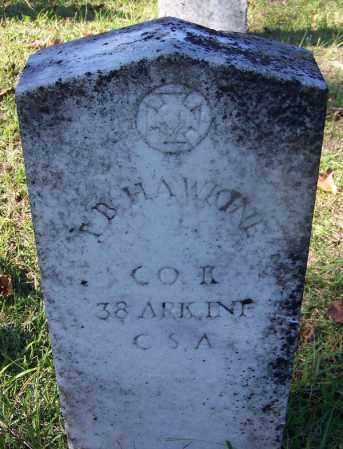 HAWKINE (VETERAN CSA), T B - Ouachita County, Arkansas   T B HAWKINE (VETERAN CSA) - Arkansas Gravestone Photos