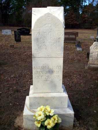 HAYS, SARAH E - Ouachita County, Arkansas | SARAH E HAYS - Arkansas Gravestone Photos