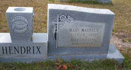 HENDRIX, MARY NATHALIE - Ouachita County, Arkansas   MARY NATHALIE HENDRIX - Arkansas Gravestone Photos