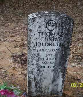 HILDRETH  (VETERAN KOR), THOMAS CURTIS - Ouachita County, Arkansas | THOMAS CURTIS HILDRETH  (VETERAN KOR) - Arkansas Gravestone Photos