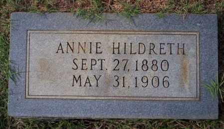 HILDRETH, ANNIE - Ouachita County, Arkansas   ANNIE HILDRETH - Arkansas Gravestone Photos