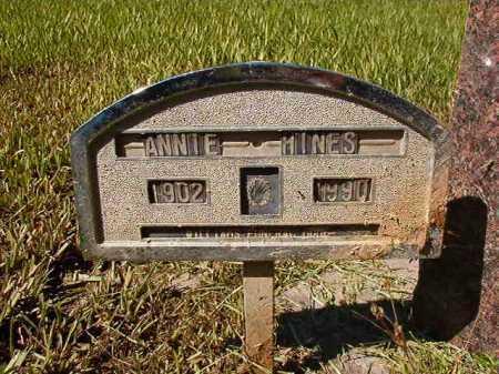 HINES, ANNIE - Ouachita County, Arkansas | ANNIE HINES - Arkansas Gravestone Photos