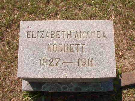 BONHAM HODNETT, ELIZABETH AMANDA - Ouachita County, Arkansas | ELIZABETH AMANDA BONHAM HODNETT - Arkansas Gravestone Photos