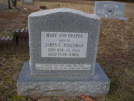 HOLLEMAN, MARY ANN - Ouachita County, Arkansas | MARY ANN HOLLEMAN - Arkansas Gravestone Photos