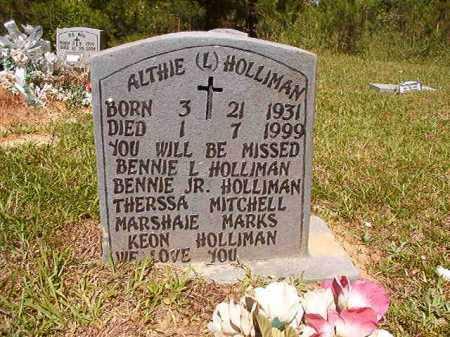 HOLLIMAN, ALTHIE L - Ouachita County, Arkansas | ALTHIE L HOLLIMAN - Arkansas Gravestone Photos