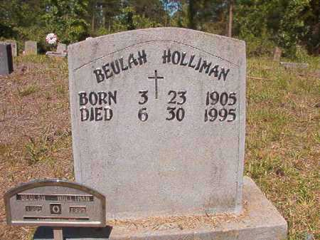HOLLIMAN, BEULAH - Ouachita County, Arkansas | BEULAH HOLLIMAN - Arkansas Gravestone Photos