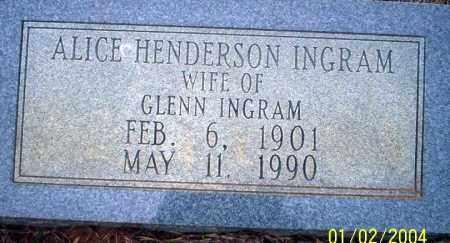 INGRAM, ALICE - Ouachita County, Arkansas | ALICE INGRAM - Arkansas Gravestone Photos