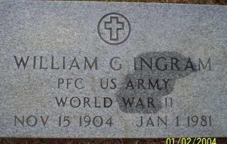 INGRAM (VETERAN WWII), WILLIAM G - Ouachita County, Arkansas | WILLIAM G INGRAM (VETERAN WWII) - Arkansas Gravestone Photos