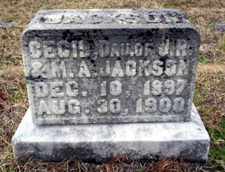 JACKSON, CECIL - Ouachita County, Arkansas | CECIL JACKSON - Arkansas Gravestone Photos