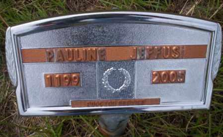 JEFFUS, PAULINE - Ouachita County, Arkansas | PAULINE JEFFUS - Arkansas Gravestone Photos