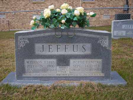 JEFFUS, BERTIE E - Ouachita County, Arkansas | BERTIE E JEFFUS - Arkansas Gravestone Photos