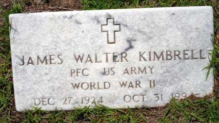 KIMBRELL  VETERAN WWII), JAMES WALTER - Ouachita County, Arkansas | JAMES WALTER KIMBRELL  VETERAN WWII) - Arkansas Gravestone Photos