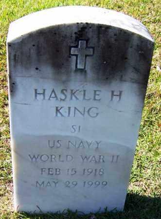 KING (VETERAN WWII), HASKLE H - Ouachita County, Arkansas | HASKLE H KING (VETERAN WWII) - Arkansas Gravestone Photos