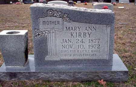 KIRBY, MARY ANN - Ouachita County, Arkansas | MARY ANN KIRBY - Arkansas Gravestone Photos
