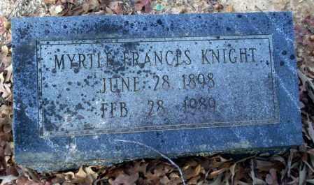 KNIGHT, MYRTLE FRANCES - Ouachita County, Arkansas | MYRTLE FRANCES KNIGHT - Arkansas Gravestone Photos