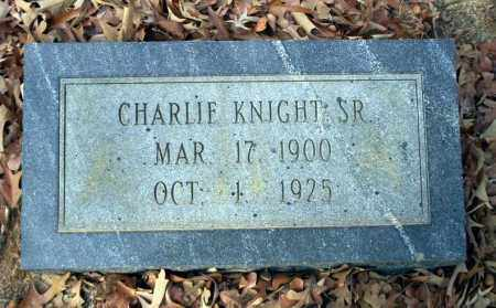 KNIGHT SR., CHARLIE - Ouachita County, Arkansas   CHARLIE KNIGHT SR. - Arkansas Gravestone Photos