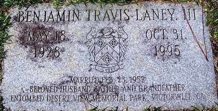 LANEY, III, BENJAMIN TRAVIS - Ouachita County, Arkansas | BENJAMIN TRAVIS LANEY, III - Arkansas Gravestone Photos