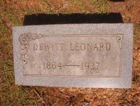 LEONARD, DEWITT - Ouachita County, Arkansas   DEWITT LEONARD - Arkansas Gravestone Photos