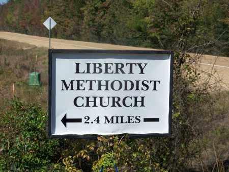 *LIBERTY ROAD SIGN,  - Ouachita County, Arkansas |  *LIBERTY ROAD SIGN - Arkansas Gravestone Photos