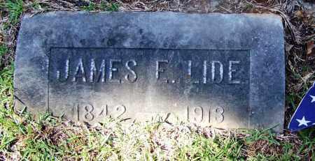 LIDE (VETERAN CSA), JAMES F - Ouachita County, Arkansas   JAMES F LIDE (VETERAN CSA) - Arkansas Gravestone Photos