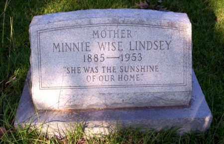 LINDSEY, MINNIE WISE - Ouachita County, Arkansas | MINNIE WISE LINDSEY - Arkansas Gravestone Photos