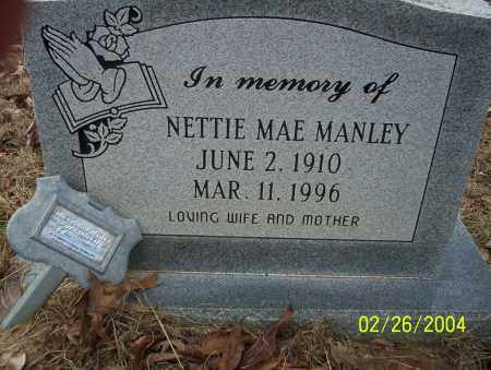 MANLEY, NETTIE MAE - Ouachita County, Arkansas | NETTIE MAE MANLEY - Arkansas Gravestone Photos