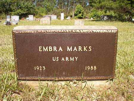MARKS (VETERAN), EMBRA - Ouachita County, Arkansas | EMBRA MARKS (VETERAN) - Arkansas Gravestone Photos