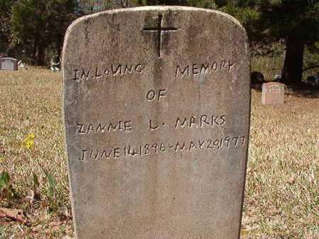 MARKS, ZANNIE L - Ouachita County, Arkansas | ZANNIE L MARKS - Arkansas Gravestone Photos