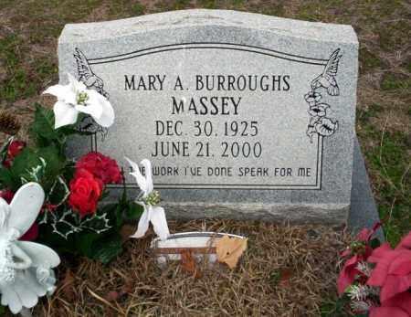 BURROUGHS MASSEY, MARY A - Ouachita County, Arkansas | MARY A BURROUGHS MASSEY - Arkansas Gravestone Photos