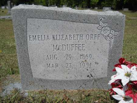 MCDUFFEE, EMELIA ELIZABETH - Ouachita County, Arkansas | EMELIA ELIZABETH MCDUFFEE - Arkansas Gravestone Photos
