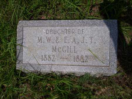 MCGILL, DAUGHTER - Ouachita County, Arkansas | DAUGHTER MCGILL - Arkansas Gravestone Photos
