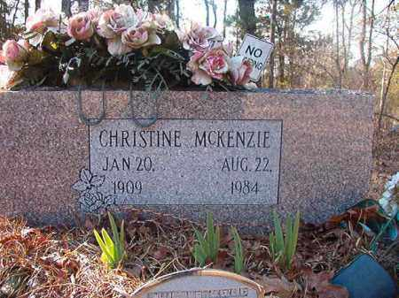 MCKENZIE, CHRISTINE - Ouachita County, Arkansas | CHRISTINE MCKENZIE - Arkansas Gravestone Photos